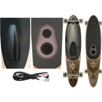 LONGBOARD GLOBE PINNER BLUETOOTH DARK MAPLE SPEAKER SYSTEM 41.25 x 9