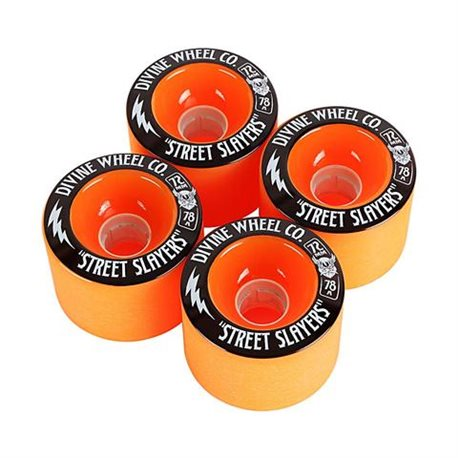 Divine Street Slayers 72mm 78a ORANGE